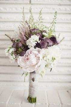 purple bridal bouquet brides of adelaide magazine