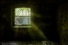darkness revealed - fine art photography print of an abandoned asylum basement with light rays shining through an old window, signed Scary Ghost Pictures, Ghost Photos, Metallic Prints, Metallic Paper, Abandoned Asylums, Abandoned Places, Real Haunted Houses, Dying Of The Light, Paranormal Photos