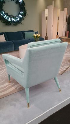 Stunning Upholstered Side Chair. Legs With Brass Caps