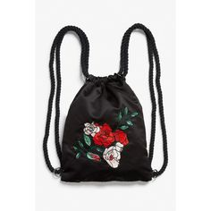 Drawstring bag (86 BRL) ❤ liked on Polyvore featuring bags, backpacks, daypack bag, rucksack bags, draw string bag, print backpacks and day pack backpack