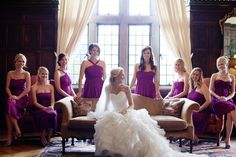 I love this for a bridal party shot! #wedding #bride #bridesmaid