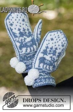 Как вязать жаккардовые варежки на зиму, описание и схемы