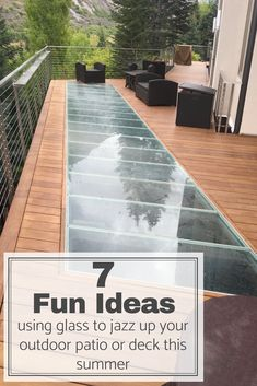 We collaborated with AECInfo to bring you the 7 fun ideas using glass to create an outdoor patio or deck that you will love! | Innovate Building Solutions | AECInfo | #GlassFloors #StructuredGlass #OutdoorPatio |  Glass Floor Over Water  Glass Stairs Modern  Glass Stairs Design  Structured Glass Floor