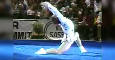 Paul Hunt Performs Hilarious Gymnastics Routine via LittleThings.com