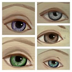 How to paint eyes color collage by KatcanPaint.com