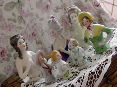 porcelain half dolls waiting to be made into applied art