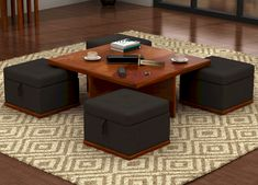 Coffee Table Ideas for Your Living Room. Coffee tables serve many different uses.including Coffee Table Ideas for Your Living Room. Centre Table Living Room, Living Room Stools, Table Decor Living Room, Living Room Storage, Center Table, Living Room Furniture, Dining Chairs, Centre Table Design, Wooden Street
