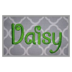 Stitchtopia Daisy Embroidery Font Set – Small - I have this :)