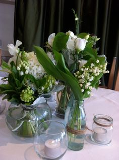 Mixed posy in fishbowl idea 3   By Flower jar
