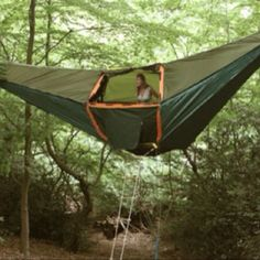 """Tent hammock, portable tree house :)  Kinda weird, but I'll bet it would be fun once you got the """"hang"""" of it!"""