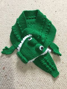 Crocodile scarf grandson project shared on the LoveKnitting Community