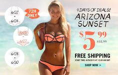 popular bikini is only 5.99$, also free shipping!