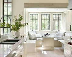 Breakfast nook White kitchen