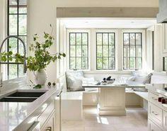 Breakfast nook White kitchen