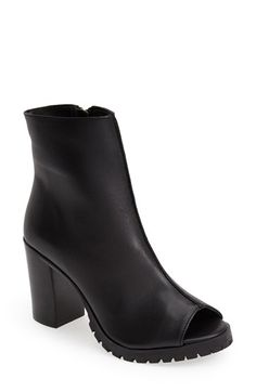 309e69021f3 Steve Madden  Traffic  Open Toe Leather Bootie (Women) available at   Nordstrom