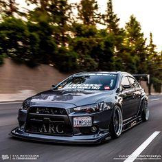 mitsubishi lancer evo x Mitsubishi Lancer Evolution, Tuner Cars, Jdm Cars, Slammed Cars, Mitsubishi Cars, Ac Schnitzer, Evo X, Drifting Cars, Japan Cars