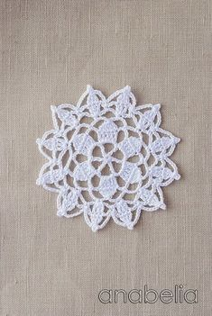 Crochet lace motif nr 6 by Anabelia.like to blend these into my handmade flowers. Crochet Circles, Crochet Doily Patterns, Crochet Chart, Crochet Squares, Crochet Designs, Crochet Doilies, Crochet Flowers, Crochet Home, Love Crochet