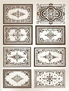 Узоры для декорирования: feodora3368 Damask Stencil, Stencil Patterns, Floor Patterns, Pattern Art, Art Deco Design, Glass Design, Bar Design, Pichwai Paintings, Laser Art