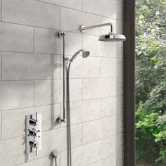 Traditional Thermostatic Triple Shower Valve Complete Shower Set