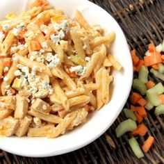 Buffalo Chicken Pasta Salad is a refreshing dish perfect for a potluck, picnic, or even tailgating and it's a snap to make!