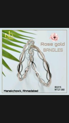 Gold Bangles, Rose Gold, Personalized Items