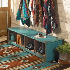 Pattern Southwest decor is about pattern. This Southwestern trailer decor is awesome, and is among the most unique trailer remodels I've ever seen. St...