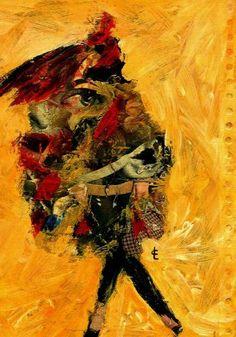 Pinturas al óleo de las artistas CARMEN LUNA y CRIS ACQUA. Interesantes los trabajos que presentan.