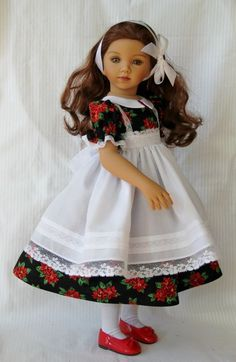"""Christmas Classic OOAK Outfit for Effner 20"""" Maru & Friends~ Glorias Garden #Unbranded"""