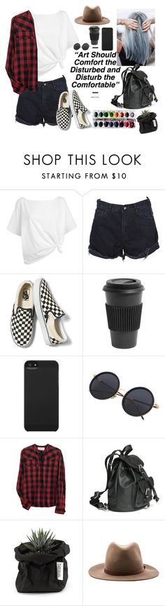 """""""If you fall in love with an artist you ll never die"""" by youngsmile ❤ liked on Polyvore featuring Red Herring, One Teaspoon, Vans, Homage, Incase, Madame A Paris and rag & bone"""