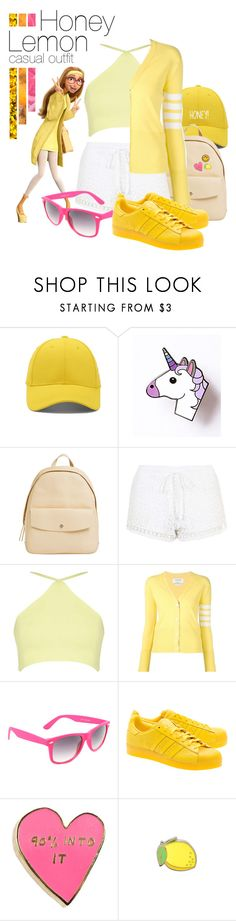 """""""honey lemon"""" by luiglesias ❤ liked on Polyvore featuring Forever 21, French Toast, Skagen, Topshop, Thom Browne, SWG, adidas Originals, Valley Cruise Press and PINTRILL"""