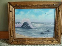 Ocean Waves Oil Painting 12 X 16 by LinsFinalTouch on Etsy