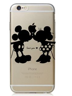 Case Cover for Apple iPhone 4 4S 5 5S 5c 6 6 plus  Black Mickey&Minnie Kiss  Buy Now:http://shortat.com/qRnpT