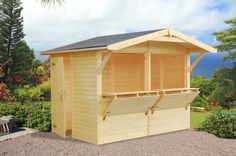 Buy the Palmako Stella Wooden Kiosk for sale online for your home, business, pub, market stall or golf course with free UK delivery from Greenhouse Stores. Outdoor Garden Bar, Backyard Bar, Kiosk Design, Cafe Design, Pool Shed, Bar Shed, Food Kiosk, Cheap Sheds, Market Garden
