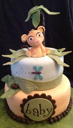 Disney Simba, Lion King, baby shower cake