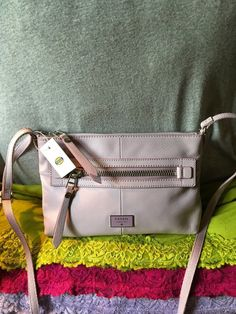 Handbag Fossil Dawson Lavender Leather Shoulder Bag Purse Zip Crossbody #Doris_Daily_Deals #Bonanza http://www.bonanza.com/listings/487891179