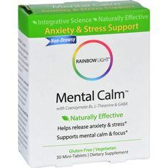 Rainbow Light Mental Calm - Stress And Anxiety Support - 30 Tablets. See how the safety of this product's ingredients rate at trueclub.com.