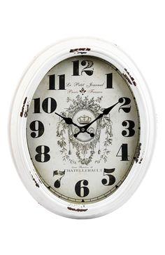 Vacker väggklocka med en snygg Shabby Chic-känsla. Klockan är tillverkad av lackerad met... • Trygg leverans • Säker betalning • 14 dagars ångerrätt