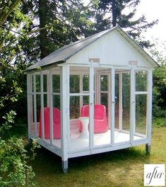 I think all backyards in Seattle need this little house for sitting with a book and cofee in the rain
