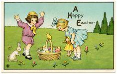 Vintage Easter Postcards | Free Digital Image ~ Vintage Stetcher Easter Postcard