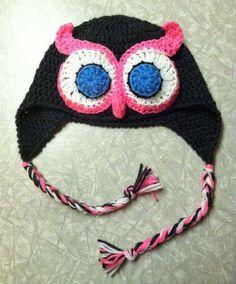 owl hat crochet
