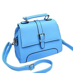 Vetasac Women PU Leather Handbags New Top Handle Shoulder Bags Korean Style Tote Ladies Bags Sky Blue >>> You can find out more details at the link of the image.