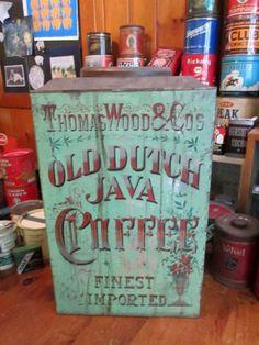 Vintage Thomas Wood Co's Old Dutch Coffee Tin Store Display Scarce T351 | eBay  $387.14
