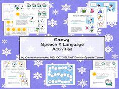 "Carrie's Speech Corner: ""Snowy Speech and Language Activities"" A Guest Post on Home Sweet Speech Room"