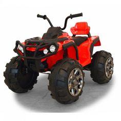 Elfyrhjuling Protector till barn, en riktigt robust värsting från Jamara! Ett fordon som barnen själva kan köra är ju så klart alltid kul! Sitt upp, tryck påstartknappen och gasa iväg. Det sitter till och med en FM radio i instrumentpanel så man kan lyssna på musik då man kör. Kraftiga LED lampor framtill. Vilket barn drömmer inte om en egen fyrhjuling? Batteri: 12 volt. Sitthöjd: 65 cm. Längd: 100 cm.
