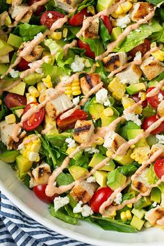 Pin for Later: 20 Recipes That'll Help You Stick to Your Healthy-Eating Goals Avocado and Grilled Chicken Chopped Salad With Skinny Chipotle-Lime Ranch Get the recipe: Avocado and Grilled Chicken Chopped Salad With Skinny Chipotle-Lime Ranch