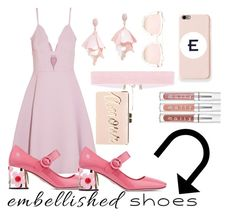 """Embellished Shoes 💕"" by iamliksen on Polyvore featuring Giambattista Valli, Prada, Oscar de la Renta Pink Label, Mark & Graham, Quay, BCBGMAXAZRIA, lovefashion and embellishedshoes"