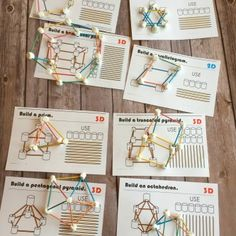 Marshmallow and Toothpick Geometry Cards - The Best Space Activities Ideas For Kids Math Classroom, Kindergarten Math, Teaching Math, Teaching Geometry, Teaching Ideas, Teaching Multiplication, Kids Math, Math Tutor, Teaching Tools