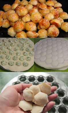 Found the mold: a pelmeni Russian dumpling/ravioli mold. Can be bought online. T… Found the mold: a pelmeni Russian dumpling/ravioli mold. Can be bought online. Tiny savory bites with cheese, dill, kefir, and sour cream. Tapas, Lunch Catering, Good Food, Yummy Food, Puff Pastry Recipes, Snacks Für Party, Russian Recipes, International Recipes, Creative Food