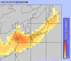 明日の黄砂予報。日本全国を黄砂が覆います。   A!@Atsuhiko Takahashi