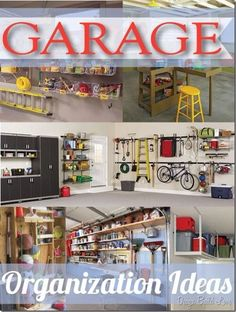 Garage Organization  Ideas........